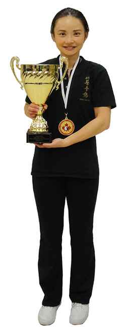 Amy with Grand Championship Trophy